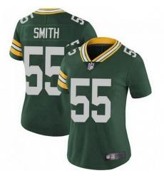 Women Nike Green Bay Packers 55 Za'Darius Smith Green Vapor Limited Jersey