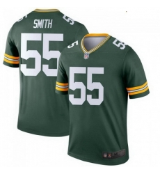 Youth Nike Green Bay Packers 55 Za'Darius Smith Green Colour Rush Limited Jersey