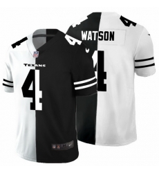 Houston Texans 4 Deshaun Watson Men Black V White Peace Split Nike Vapor Untouchable Limited NFL Jersey