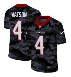 Houston Texans 4 Deshaun Watson Men Nike 2020 Black CAMO Vapor Untouchable Limited Stitched NFL Jersey