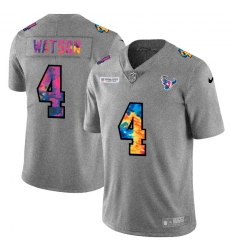 Houston Texans 4 Deshaun Watson Men Nike Multi Color 2020 NFL Crucial Catch NFL Jersey Greyheather