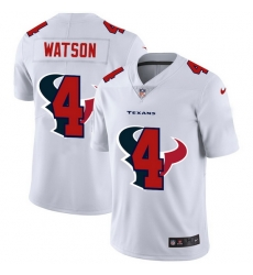 Houston Texans 4 Deshaun Watson White Men Nike Team Logo Dual Overlap Limited NFL Jersey