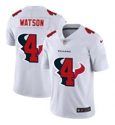 Houston Texans 4 Deshaun Watson White Men Nike Team Logo Dual Overlap Limited NFL Jersey