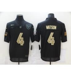 Nike Houston Texans 4 Deshaun Watson Black Camo 2020 Salute To Service Limited Jersey
