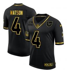 Nike Houston Texans 4 Deshaun Watson Black Gold 2020 Salute To Service Limited Jersey