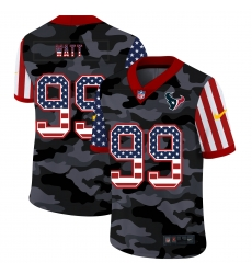 Nike Houston Texans 99 J J  Watt Camo 2020 USA Flag Salute To Service Limited Jersey