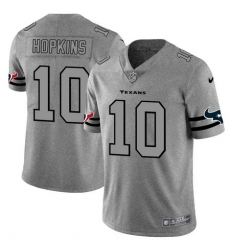 Nike Texans 10 DeAndre Hopkins 2019 Gray Gridiron Gray Vapor Untouchable Limited Jersey