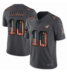 Nike Texans 10 DeAndre Hopkins 2019 Salute To Service USA Flag Fashion Limited Jersey