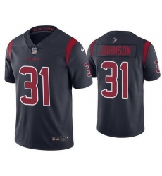 Nike Texans 31 David Johnson Navy Color Rush Limited Jersey
