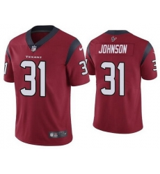 Nike Texans 31 David Johnson Red Vapor Untouchable Limited Jersey