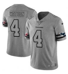 Nike Texans 4 Deshaun Watson 2019 Gray Gridiron Gray Vapor Untouchable Limited Jersey