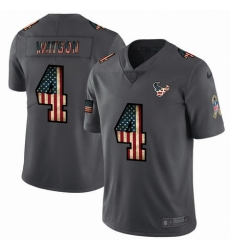 Nike Texans 4 Deshaun Watson 2019 Salute To Service USA Flag Fashion Limited Jersey