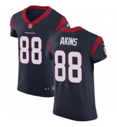 Nike Texans 88 Jordan Akins Navy Blue Team Color Men Stitched NFL Vapor Untouchable Elite Jersey
