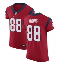 Nike Texans 88 Jordan Akins Red Alternate Men Stitched NFL New Elite Jersey