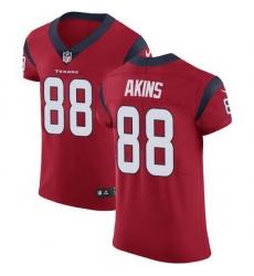 Nike Texans 88 Jordan Akins Red Alternate Men Stitched NFL New Elite Jersey