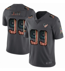 Nike Texans 99 J J  Watt 2019 Salute To Service USA Flag Fashion Limited Jersey