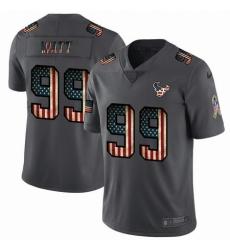 Nike Texans 99 J J  Watt 2019 Salute To Service USA Flag Fashion Limited Jersey