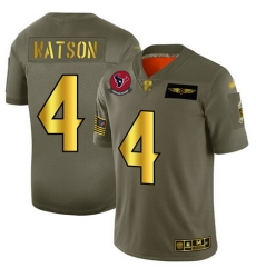 Texans 4 Deshaun Watson Camo Gold Men Stitched Football Limited 2019 Salute To Service Jersey