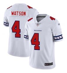 Texans 4 Deshaun Watson White Mens Stitched Football Limited Team Logo Fashion Jersey
