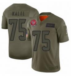 Womens Houston Texans 75 Matt Kalil Limited Camo 2019 Salute to Service Football Jersey