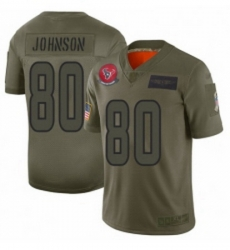 Womens Houston Texans 80 Andre Johnson Limited Camo 2019 Salute to Service Football Jersey