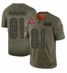 Womens Houston Texans 81 Kahale Warring Limited Camo 2019 Salute to Service Football Jersey