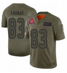 Womens Houston Texans 83 Jordan Thomas Limited Camo 2019 Salute to Service Football Jersey