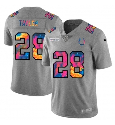 Indianapolis Colts 28 Jonathan Taylor Men Nike Multi Color 2020 NFL Crucial Catch NFL Jersey Greyheather