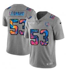 Indianapolis Colts 53 Darius Leonard Men Nike Multi Color 2020 NFL Crucial Catch NFL Jersey Greyheather