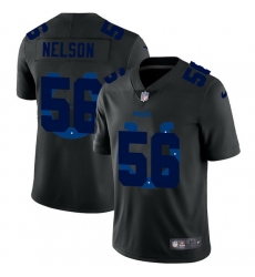 Indianapolis Colts 56 Quenton Nelson Men Nike Team Logo Dual Overlap Limited NFL Jersey Black