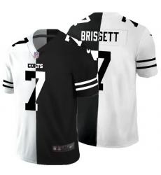 Indianapolis Colts 7 Jacoby Brissett Men Black V White Peace Split Nike Vapor Untouchable Limited NFL Jersey