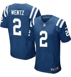 Men Indianapolis Colts 2 Carson Wentz Royal Blue Team Color Men Stitched NFL Vapor Untouchable Elite Jersey