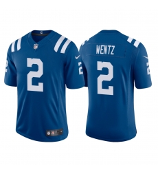 Men Indianapolis Colts Carson Wentz 2 Blue Vapor Limited Jersey