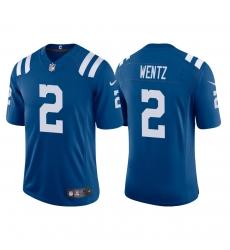 Men Indianapolis Colts Carson Wentz 2 Blue Vapor Limited Jersey