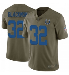 Men Indianapolis Colts Julian Blackmon 2017 Salute to Service Jersey Green Limited