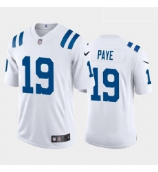 Men Indianapolis Colts Kwity Paye Royal White 2021 Draft Jersey