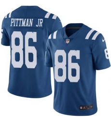 Nike Colts 86 Michael Pittman Jr  Royal Blue Men Stitched NFL Limited Rush Jersey