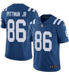 Nike Colts 86 Michael Pittman Jr  Royal Blue Team Color Men Stitched NFL Vapor Untouchable Limited Jersey