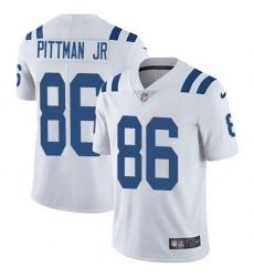 Nike Colts 86 Michael Pittman Jr  White Men Stitched NFL Vapor Untouchable Limited Jersey