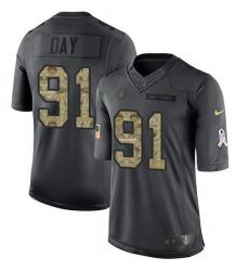 Nike Colts 91 Sheldon Day Black Men Stitched NFL Limited 2016 Salute to Service Jersey