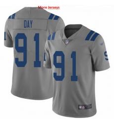 Nike Colts 91 Sheldon Day Gray Men Stitched NFL Limited Inverted Legend Jersey