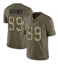 Nike Colts 99 DeForest Buckner Olive Camo Men Stitched NFL Limited 2017 Salute To Service Jersey