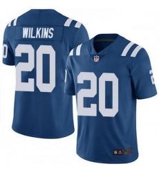 Nike Indianapolis Colts 20 Jordan Wilkins Royal Vapor Untouchable Limited Jersey