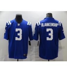 Nike Indianapolis Colts 3 Rodrigo Blankenship Blue Vapor Untouchable Limited Jersey