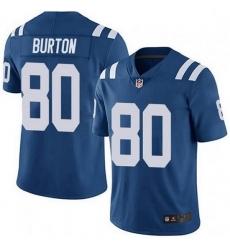 Nike Indianapolis Colts 80 Trey Burton Royal Vapor Untouchable Limited Jersey