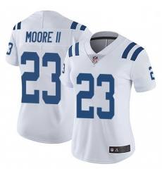 Women Indianapolis Colts Kenny Moore II Limited Color Rush Vapor Untouchable Jersey White