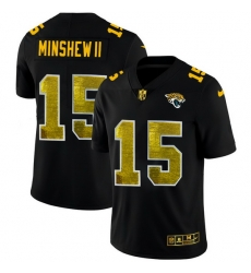 Jacksonville Jaguars 15 Gardner Minshew II Men Black Nike Golden Sequin Vapor Limited NFL Jersey