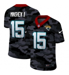 Jacksonville Jaguars 15 Gardner Minshew II Men Nike 2020 Black CAMO Vapor Untouchable Limited Stitched NFL Jersey