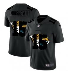 Jacksonville Jaguars 15 Gardner Minshew II Men Nike Team Logo Dual Overlap Limited NFL Jersey Black