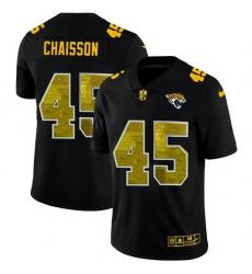 Jacksonville Jaguars 45 K 27Lavon Chaisson Men Black Nike Golden Sequin Vapor Limited NFL Jersey